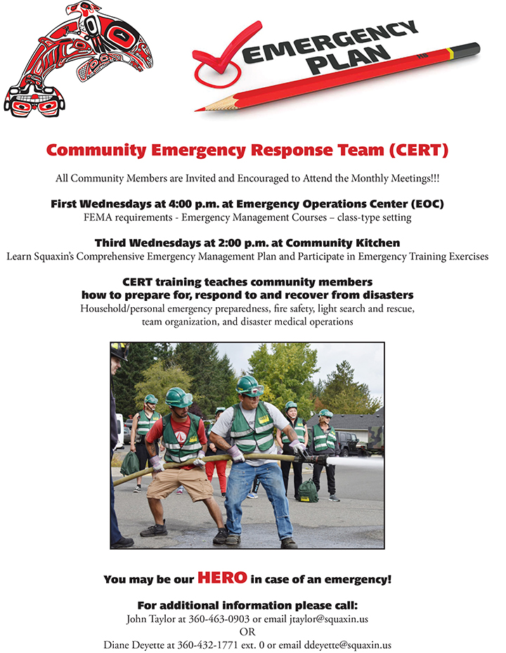 Community Emergency Response Team CERT Squaxin Island Tribe