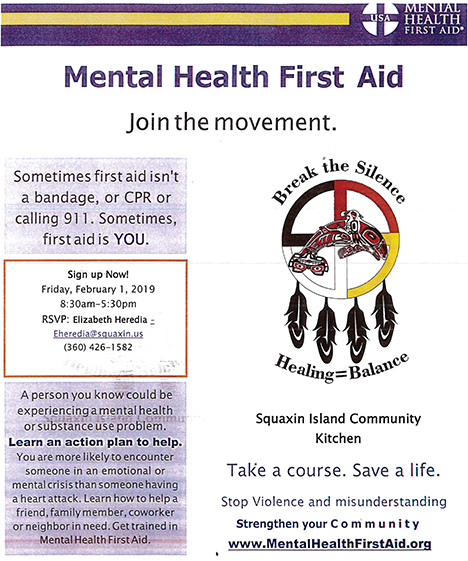 Mental Health First Aid Squaxin Island Tribe